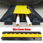 Moveable Rubber Plastic Speed Bump Sign Traffic Road Safety Cable Protector NEW