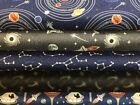 Lewis and Irene 'Light Years' Glow-in-the-Dark 100% Cotton Fat Quarter, Half ...