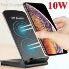 US Qi Wireless Charger 10W Fast Charging Dock Stand For i Phone 11 Samsung S10