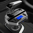 Bluetooth Wireless Car MP3 FM Transmitter Radio Dual USB Charger With Earphone