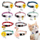 Flora Personalized Breakaway Cat Collar with Bell  ID Tag with Safety Buckle