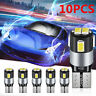 10X T10 White 5630 LED W5W 6SMD Canbus Error Free Car Auto Side Wedge Light Bulb