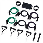 Resistance Bands Set Yoga Exercise Fitness Rubber Tube Stretch Bands Gym Workout image