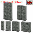 Gabion Basket Retaining Wall with Lid Galvanized Steel Wire Garden Design 6 Size