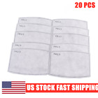 50PCS PM2.5 Replacement Pads 5 Layers Activated Carbon Respirator Filters#