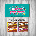 Personalised Chocolate Bar - Happy Birthday - Add message to Wrapper - gift