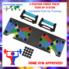 9 in 1 Push Up Rack Board Home Gym Workout Push-up Stands Body Exercise System