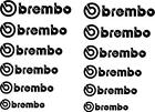 12 Brembo Decal Sticker Vinyl Caliper Brake Decals Heat Resistant Cast Vinyl 751
