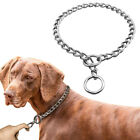 Silver Stainless Steel Dog Chain Choke Collar Resistant Metal P Training Collar