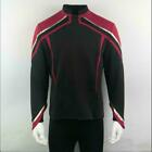 Cosplay Admiral JL Picard Red Gold Stripe Uniform Men Startfleet Shirts Costumes