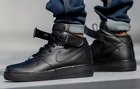 Nike Air Force 1 Mid '07 Triple Black 315123-001 Basketball Shoes Men's NEW
