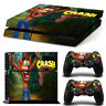 Crash Bandicoot PS4  Skin for PS4  Console & 2 Controllers