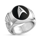 Star Trek Superhero Symbol Silver Plated Men Ring Anniversary Jewelry Size 8-13