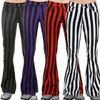 Run & Fly Mens 60s 70s Striped Bell Bottom Stretch Super Flares Retro Vintage
