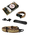 RS RIFLE SLING Tan Camo Traditional 2-Point 550 Paracord Complete Bundle Strap