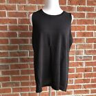 NWT! $49 Chico's LAYERING SLEEVELESS SWEATER TANK - BLACK