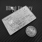 Iced Hip Hop Stainless Steel Lab Diamond Large Credit Card Bling Charm Pendant
