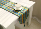 Vintage Bohemian Linen Table Runner Placemat Table Mat Tassel Double Layer US