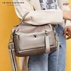 New Women's Black Genuine Cow Leather Shoulder Handbags High Quality Casual Bag