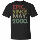 Epic Since May 2000 20th Birthday Gift 20 Years Old T-Shirt