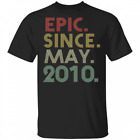 Epic Since May 2010 10th Birthday Gift 10 Years Old T-Shirt