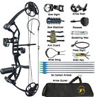 Compound Bow Arrows Set 10-40lbs Adjustable Youth Women Archery Shooting Hunting