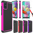 For Samsung Galaxy A51 Hybrid Armor Hard Phone Case Cover/glass Screen Protector