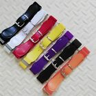 Toddler Baby Solid Color Waist Belt Buckle PU Leather Kids Girls Boys Waistband