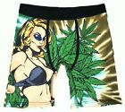 """Wear Your Life by PSD ALIEN BABE POT WEED Men's Boxer Brief X LARGE (40"""" to 42"""")"""