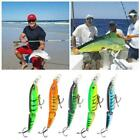 Lot Double Section Bionic Fishing Lure Crank Bait Tackle Bass Durable Hook Y2o7