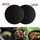 2x Bbq Grill Mesh Non-stick Mat Reusable Sheet Resistant Cooking Barbecue F7z5