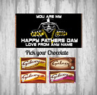 Personalised Father's Day Chocolate Bar - Custom Wrapper - Pick your chocolate