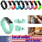US New Soft Replacement Silicone Wrist Band Strap Clasp Buckle For Fitbit Alta x image