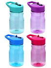 Assorted Kids Plastic Water Bottles with Flip-Up Straws, 13 oz. $6.04 FREE S/H image