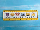 Personalised 15cm ruler - School Company Office - 6 colours - Any Name - emoji