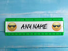Personalised 15cm ruler - School Company Office - 6 colours - Emoji face design