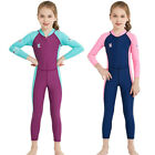Dive&Sail New Long Sleeve Wetsuit Kids One Piece Swimsuit Diving Suit Girl K1I7