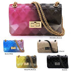 Quilt Embossed Multi Color Jelly Classic Shoulder Bag Candy Crossbody Bag Purse image