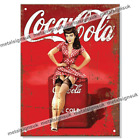 Metal Signs COCA COLA PIN UP GIRL Retro Wall Plaque Mancave Kitchen Garage Sign £6.95  on eBay
