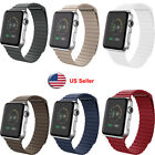 Leather Loop Magnetic Watch Band For Apple Watch iWatch Series 5 4 3 2 1  image
