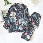 New Magical Garden Black Long Ladies Womens Top and Bottom Set Pyjamas ladpj291