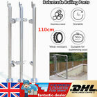 110cm Balustrade Railing Post Stair Pool Fence Glass Clamps Stainless w/Top Seat