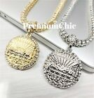 Last Supper Pendant & Iced Tennis Chain Choker Men Hiphop Jewelry Necklace