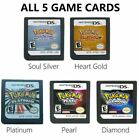 Pokemon Platinum SoulSilver HeartGold Game Card for Nintendo 3DS/DSI NDS NDSL