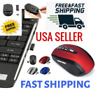 2 4ghz wireless optical mouse mice usb receiver 2000dpi for pc laptop computer