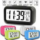 Digital Snooze LED Alarm Clock Smart Backlight Calendar Temperature Modern 2020