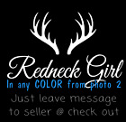Redneck girl hunting deer decal sticker for yeti cup truck Window