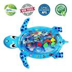 Inflatable Tummy Time Water Mat Sea Turtle Shape Infants Toddlers Play Mat Pad