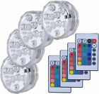 Submersible LED Lights Remote Controlled Battery Operated Wireless 4PCS Party
