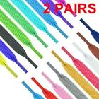 1m Shoelaces Colorful Coloured Flat Round Bootlace Strings Shoelaces B2c1